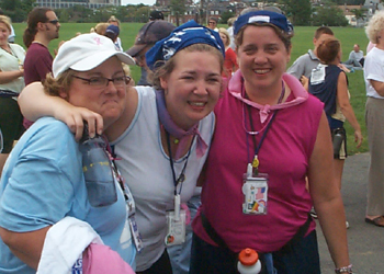Mom, Me and Sherrie after Sherrie & I crossed the finish line.