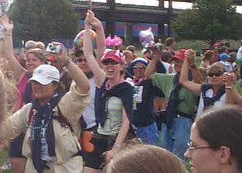Sherrie, Me & T.R. walking into Closing Ceremonies