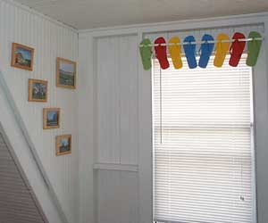 Flip Flops for a window treatment