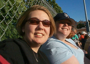 Allison and Mo at the game!
