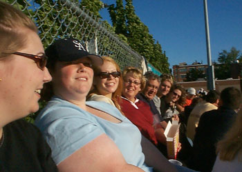 The Gang at the game. Nate refused to look.