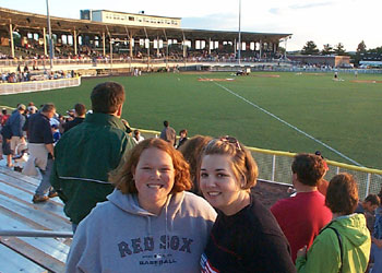 Allison and Mo after the Fisher Cats win!
