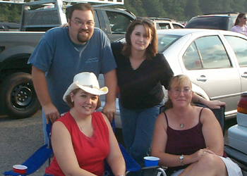Here's the crew tailgating before the concert