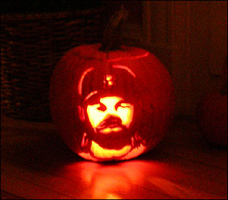 Johnny Damon Pumpkin. Go Sox!!