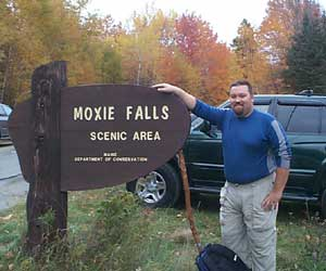 Me at the Moxie Falls sign